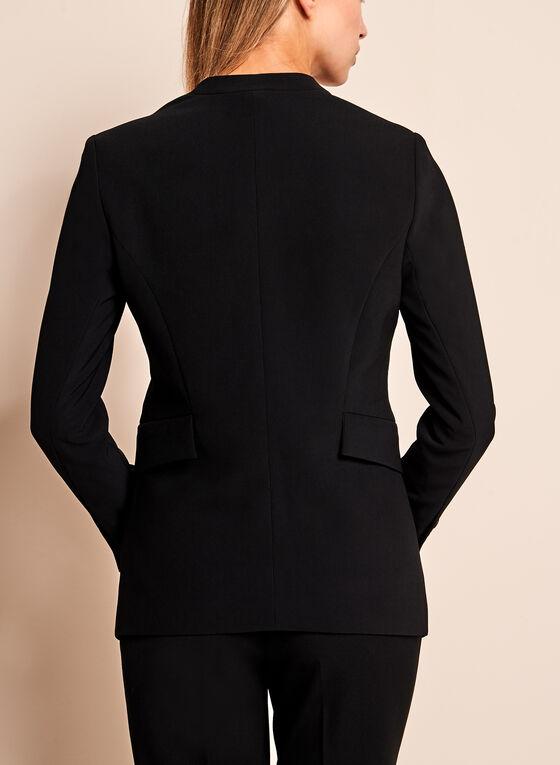 Open Cascade Front Blazer, Black, hi-res