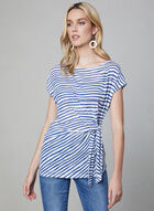 Stripe Print Top, Blue