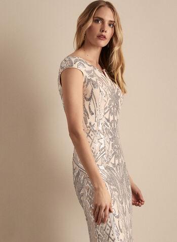 Frank Lyman - Mesh & Sequin Gown, Pink,  dress, evening, mesh, sequins, gown, sheath, spring summer 2020