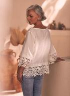 Joseph Ribkoff - Crochet Detail Blouse, White