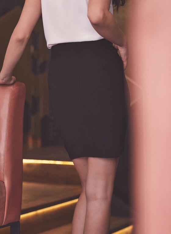Short Pencil Skirt, Black