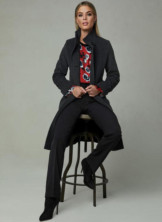 Mallia - Mid Length Cashmere Blend Coat, Grey, hi-res