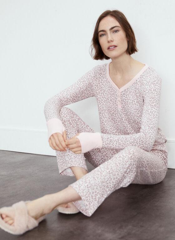Animal Print Pyjama Set, Pink