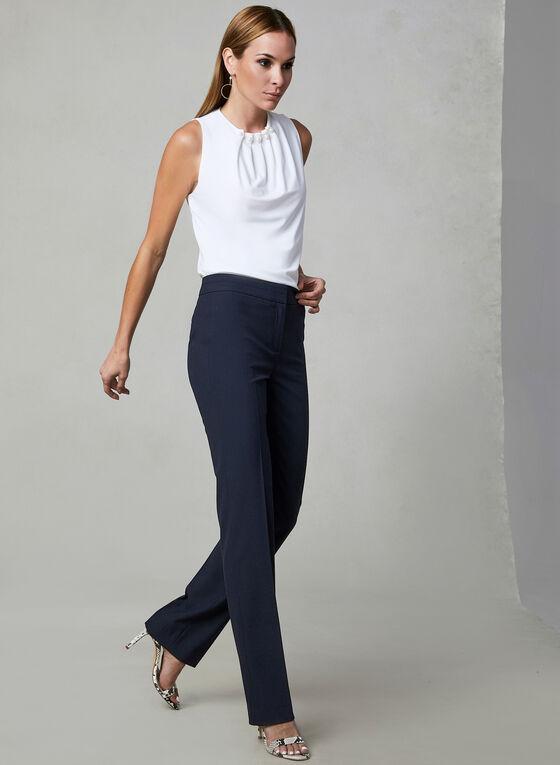 Lauren Fit Straight Leg Pants, Blue, hi-res