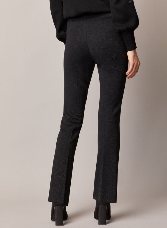 Pantalon pull-on en tricot métallique , Noir