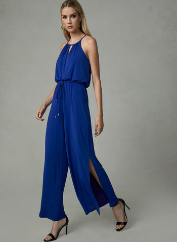 Maggy London - Jersey Jumpsuit, Blue, hi-res