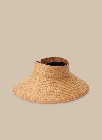 Hat other Hats, Brown,  straw, visor, hat, straw hat, spring 2020, summer 2020