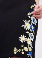 T Tahari - Embroidered Detail Crepe Pencil Skirt, Black, hi-res