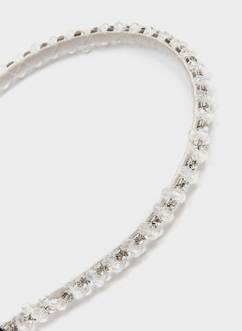 Crystal Headband, Silver, hi-res