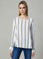 Zigzag Print Top, White, hi-res