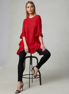Joseph Ribkoff - Ruffle Detail Tunic, Red, hi-res