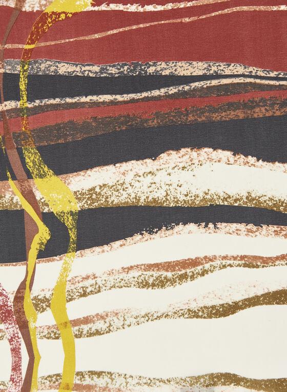 Écharpe légère à imprimé abstrait, Rouge