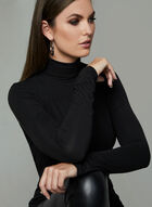 Long Sleeve Turtleneck Top, Black, hi-res