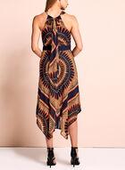 Sandra Darren - Aztec Handkerchief Hem Dress, Blue, hi-res