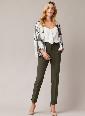 Giselle Slim Leg Pants, Green,  pants, slim leg, giselle, pleats, pockets, high rise, fall winter 2020