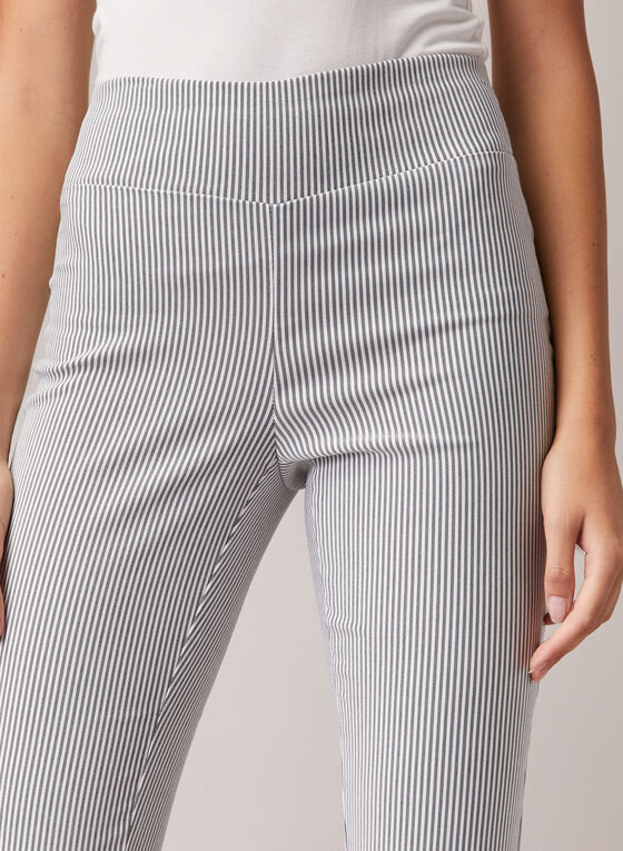 Chapter One - Stripe Print Pull-On Capris, Grey