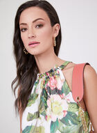 Adrianna Papell - Floral Print Halter Dress, Multi, hi-res