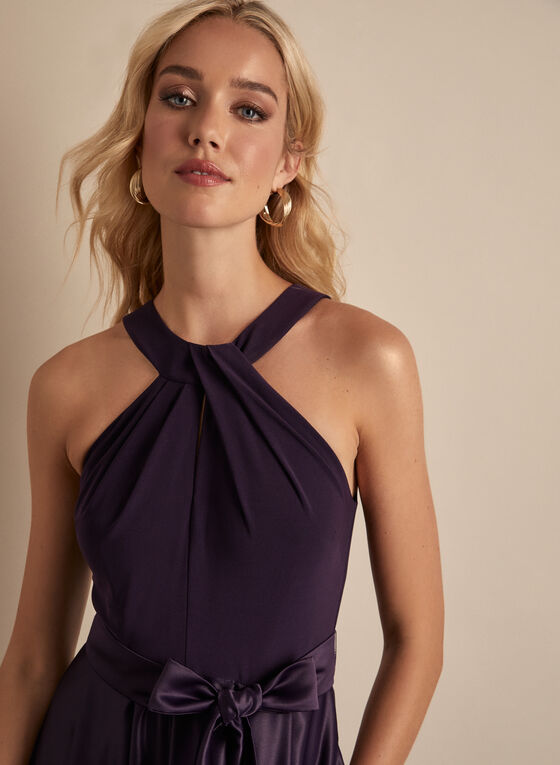 Alex Evenings - Cleo Neck Evening Dress, Purple