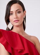 Vince Camuto - Shoulder Ruffle Sheath Dress, Red, hi-res