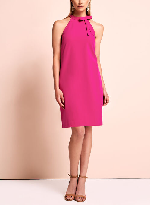Maggy London - Halter Neck Bow Dress, Pink, hi-res