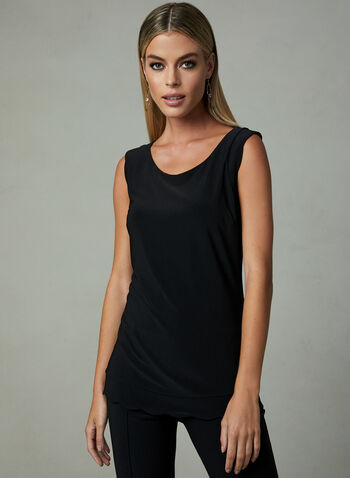 Joseph Ribkoff – Sleeveless Solid Colour Blouse, Black, hi-res