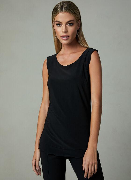 Joseph Ribkoff – Sleeveless Solid Colour Blouse, Black, hi-res