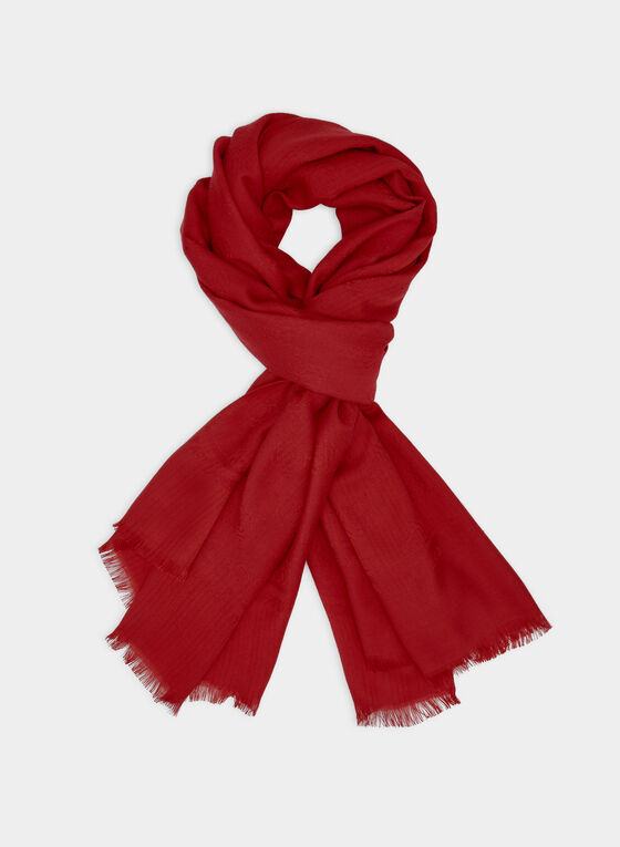 Karl Lagerfeld Paris - Lightweight Scarf, Red, hi-res