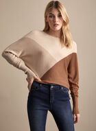 Colour Block Dolman Sleeve Sweater, Brown