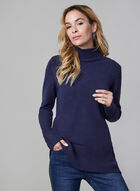 Mock Neck Sweater, Blue, hi-res