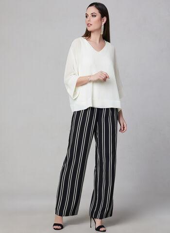 Blouse à manches kimono, Blanc cassé, hi-res,  blouse, manches dolman, kimono, mousseline, printemps 2019