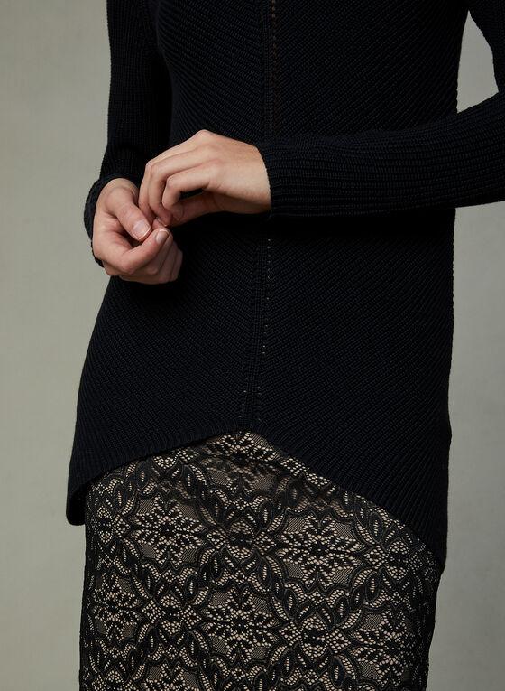 Tunique en tricot à col roulé, Noir, hi-res