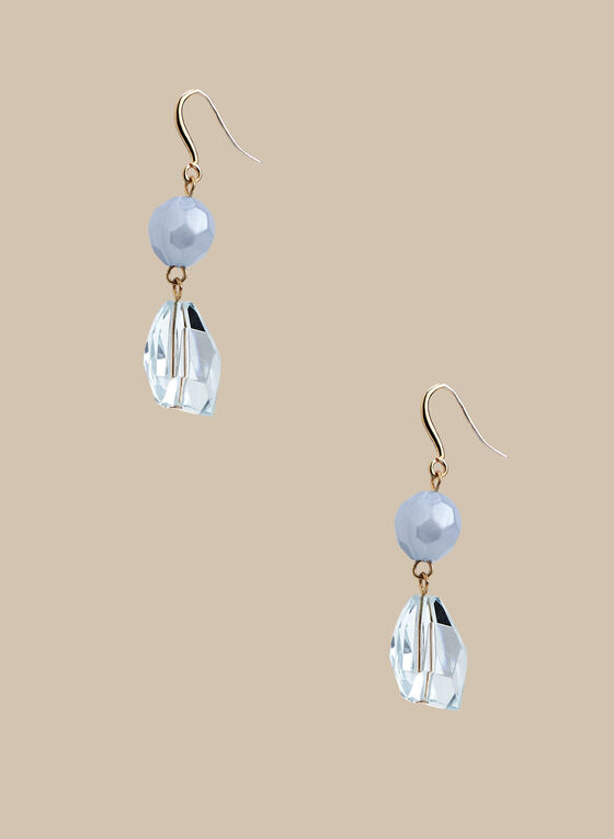 2 Tier Dangle Earrings, Blue