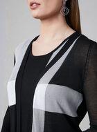 Elena Wang - Cardigan ouvert avec blocs de couleurs, Noir, hi-res