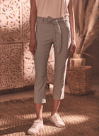Striped Capri Pants, Black