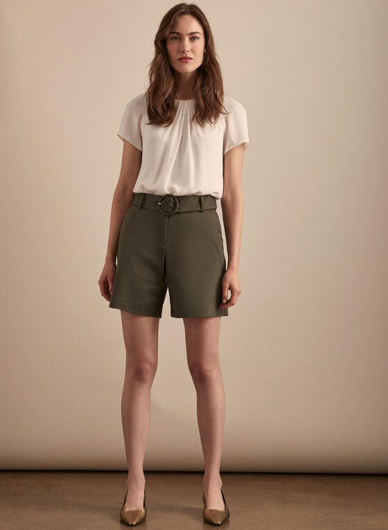 Shorts & Removable Belt, Green