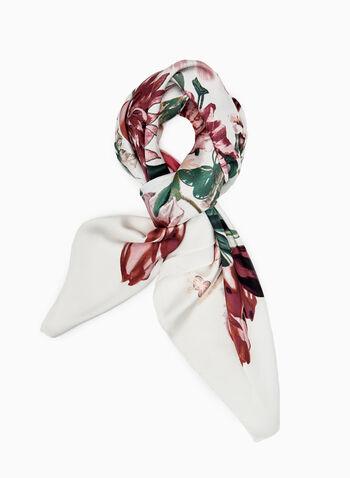 Foulard à imprimé floral, Blanc cassé, hi-res