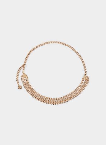 Triple Chain Belt, Gold, hi-res