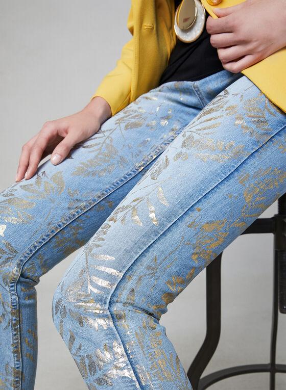 Frank Lyman - Jean à imprimé métallique, Bleu