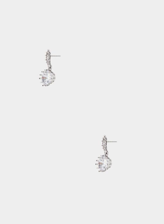 Boucles d'oreilles en cristal , Argent