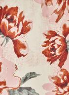 Vince Camuto - Foulard carré à fleurs, Brun, hi-res
