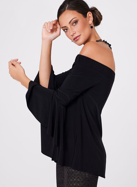 Frank Lyman - Off The shoulder Bell Sleeve Top, Black, hi-res