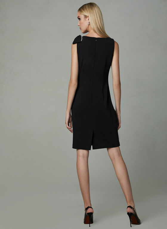 Karl Lagerfeld Paris - Faux Wrap Sheath Dress, Black