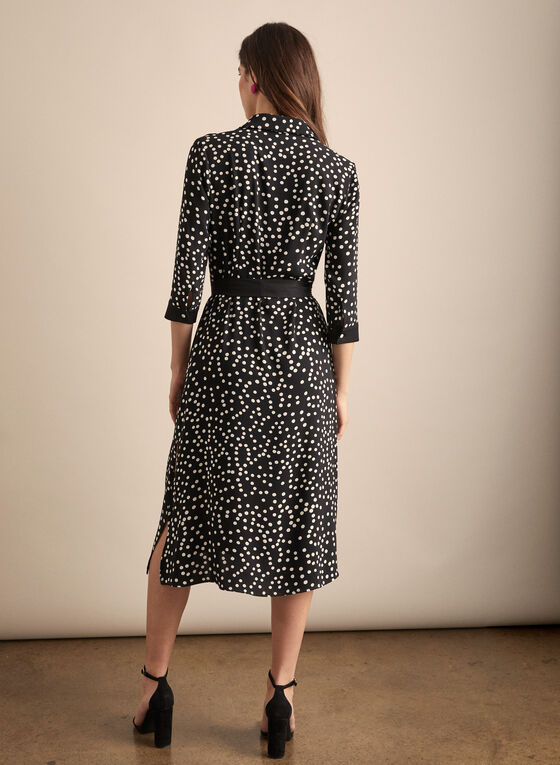 Joseph Ribkoff - Polka Dot Shirt Dress, Black