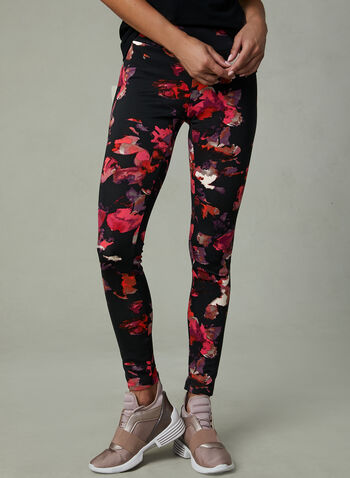 Frank Lyman - Floral Print Leggings, Black, hi-res