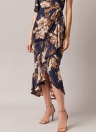 Betsy & Adam - Floral Print One Shoulder Dress, Blue