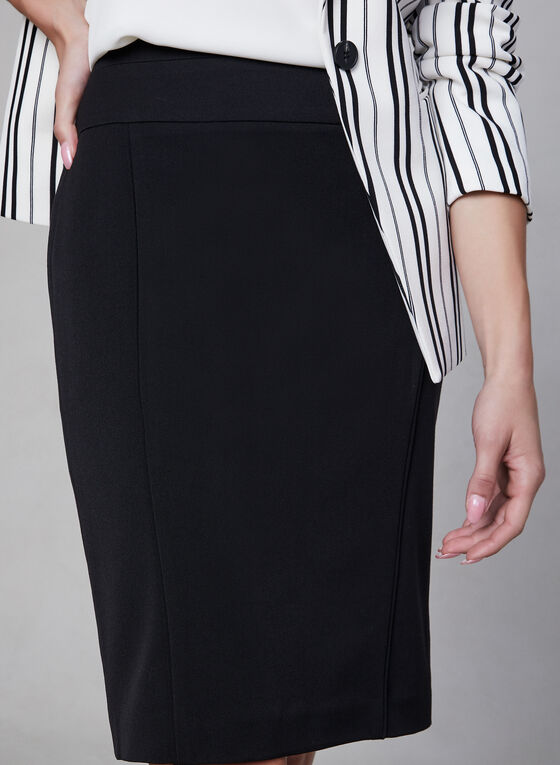 Bi-Stretch Pencil Skirt, Black