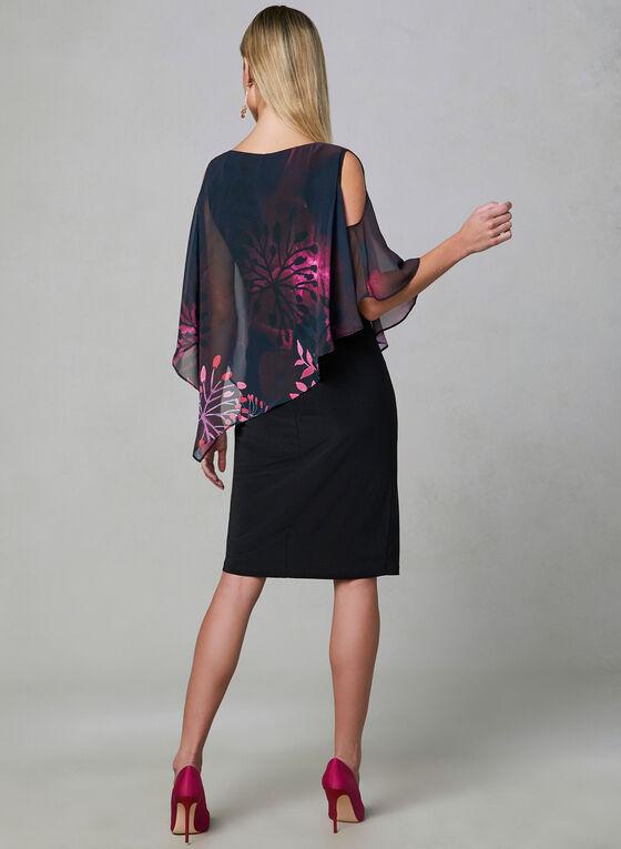 Frank Lyman - Chiffon Overlay Dress, Black, hi-res