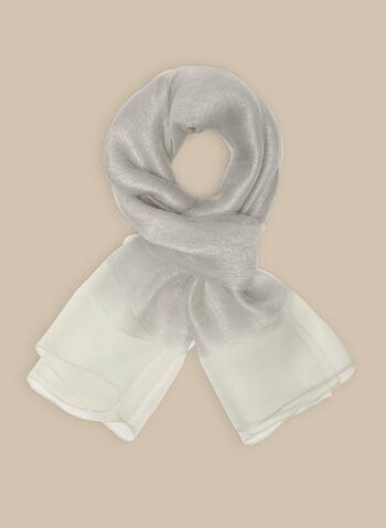 Silk Pashmina Scarf, Silver,  scarf, pashmina, silk scarf, spring 2020, summer 2020