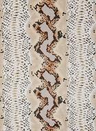 Foulard léger à motif animalier, Brun, hi-res