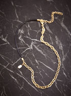 Oval Link Pearl Pendant Necklace, Off White